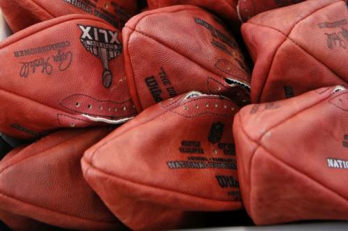 Photo of Deflated Footballs.