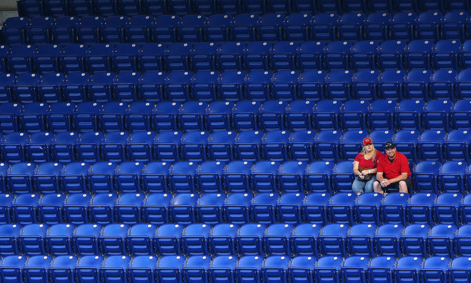 Fans Sitting in Empty Marlins Park