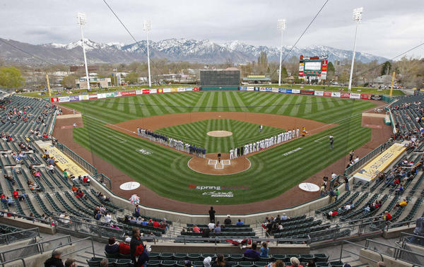 Smith's Ballpark, Home of the Salt Lake Bees.