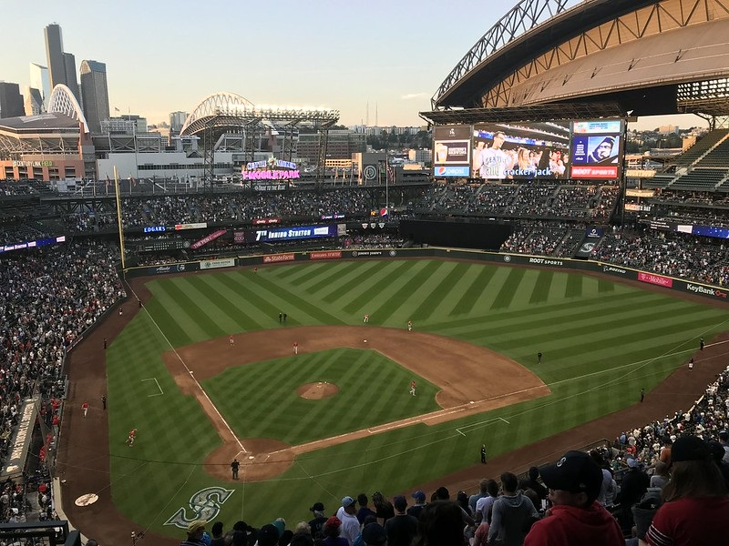 Panorama of T-Mobile Park in Seattle, Washington. Home of the Seattle Mariners.
