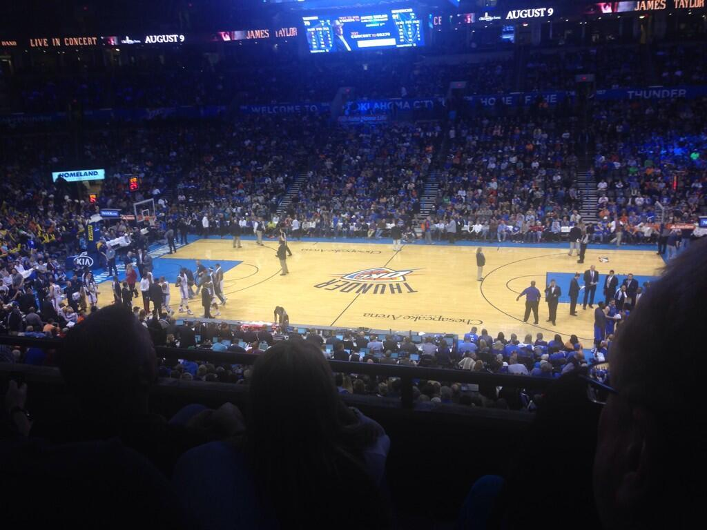 Seat view from section 221 at Chesapeake Energy Arena, home of the Oklahoma City Thunder