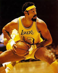 Wilt Chamberlain of the Los Angeles Lakers