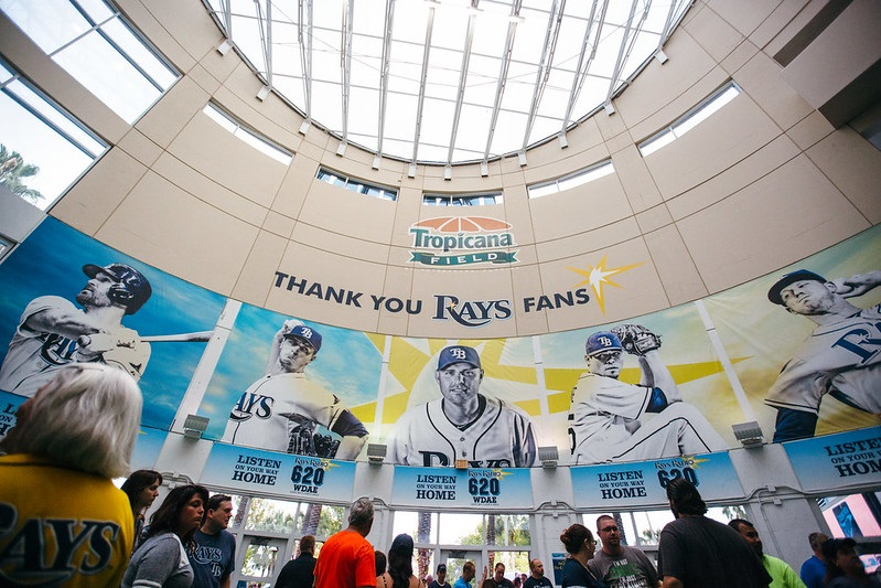 Photo of the main entrance at Tropicana Field. Home of the Tampa Bay Rays.