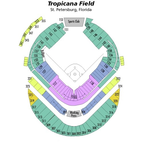 Tropicana Field Seating Chart, Tampa Bay Rays