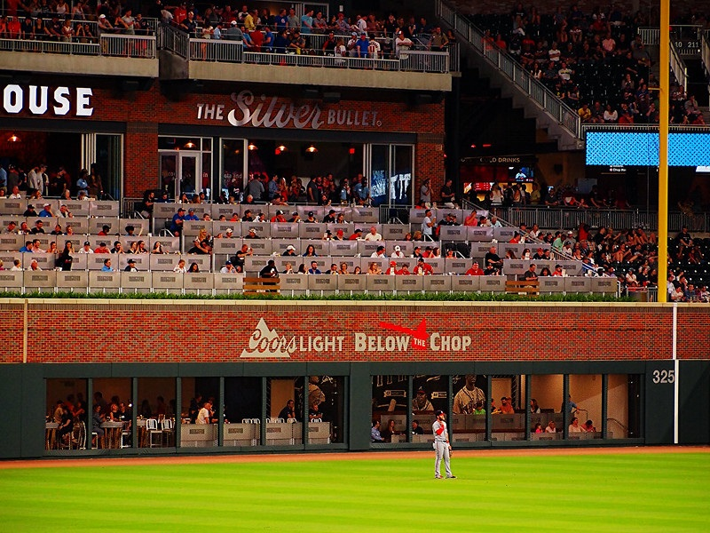 Photo of the Coors Light Below The Chop area at Truist Park. Home of the Atlanta Braves.
