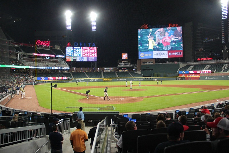 Photo taken from the Truist Club seats at Truist Park. Home of the Atlanta Braves.