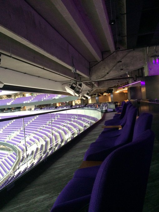 Photo of the Truss Bar seats at U.S. Bank Stadium, home of the Minnesota Vikings.