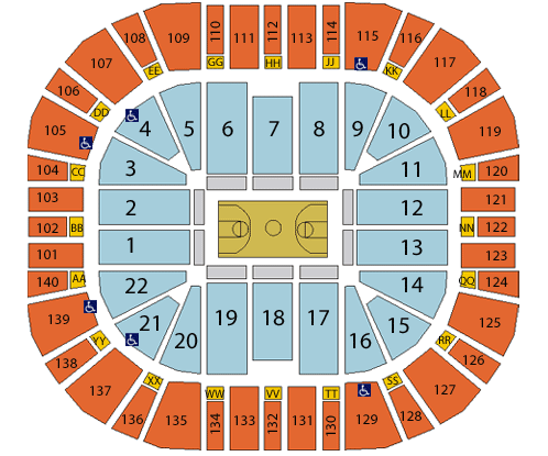 Vivint Smart Home Arena Seating Chart, Utah Jazz