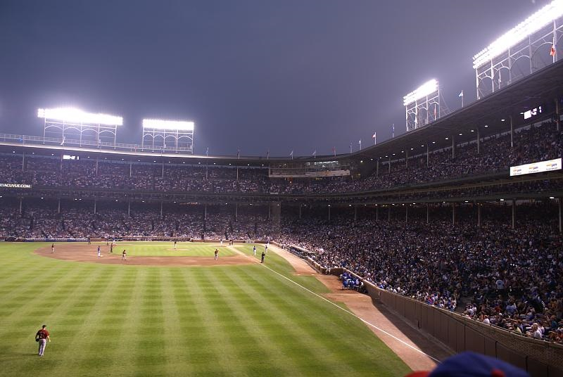 Photo taken from the Hornitos Hacienda area at Wrigley Field. Home of the Chicago Cubs.