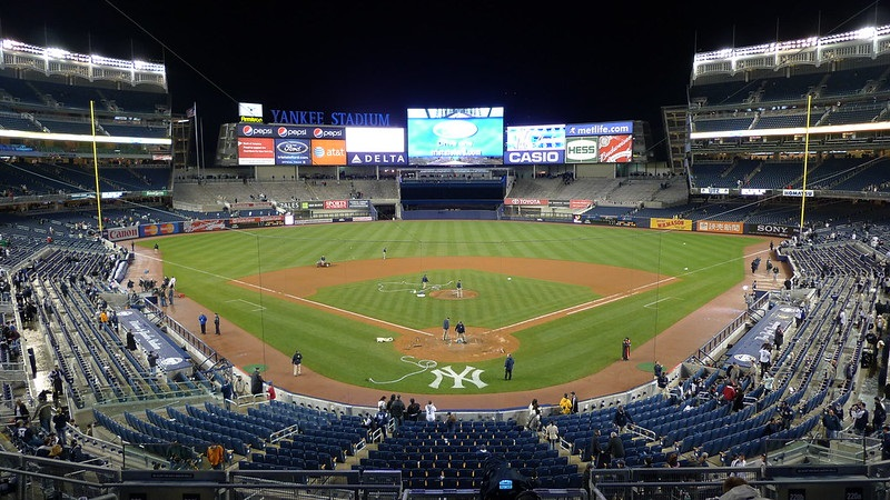 Photo taken from the Delta Sky360 Suite seating area at Yankee Stadium. Home of the New York Yankees.