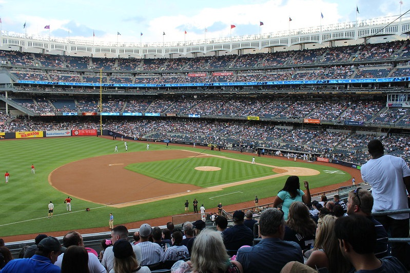 Photo taken from the main level seats at Yankee Stadium during a New York Yankees home game.