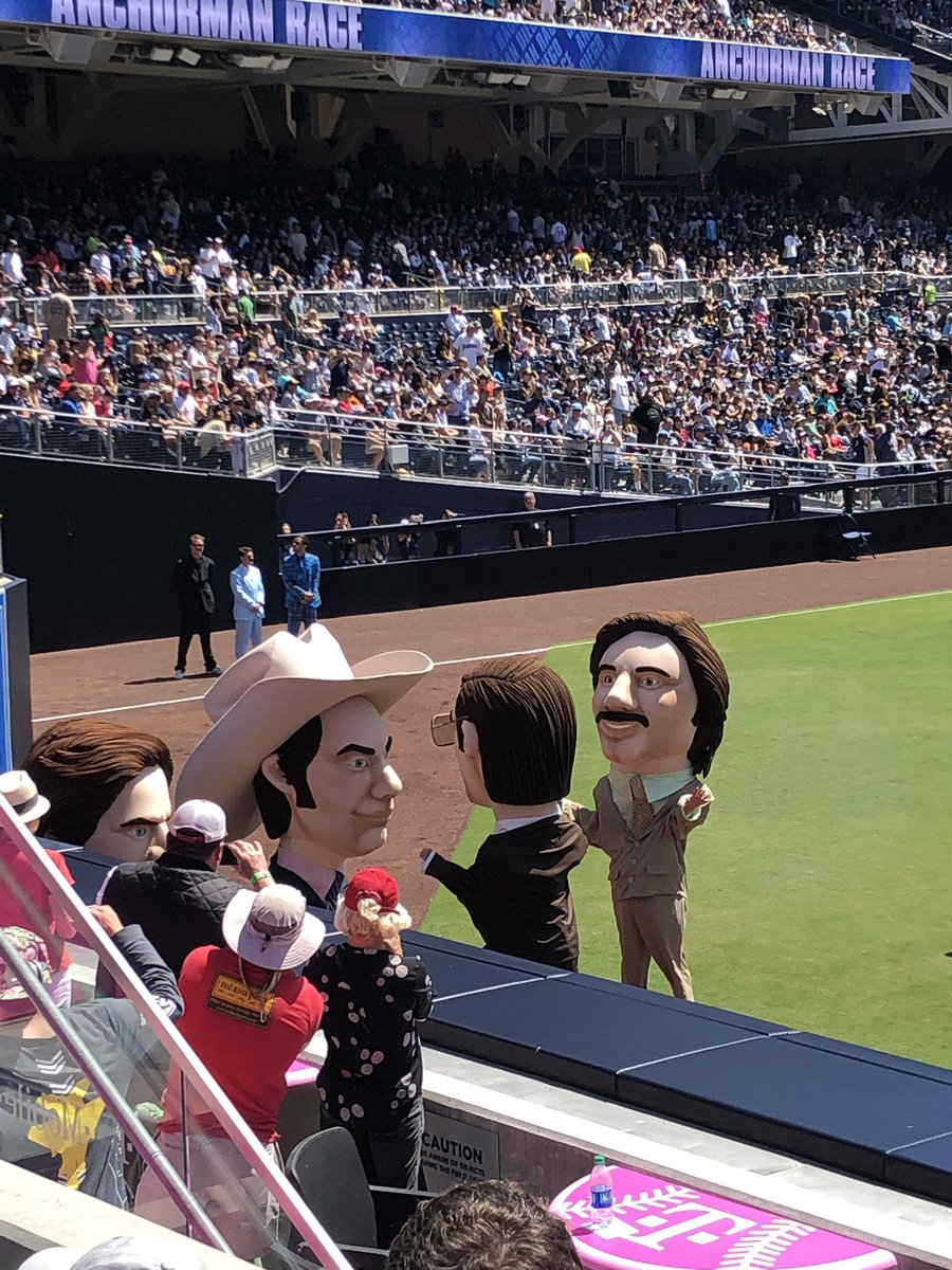 Photo of the Anchorman race at Petco Park during a San Diego Padres game.