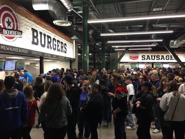 The main concourse at Miller Park, home of the Milwaukee Brewers