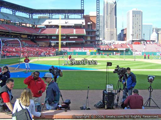 Seat view from section 1 at Busch Stadium, home of the St. Louis Cardinals