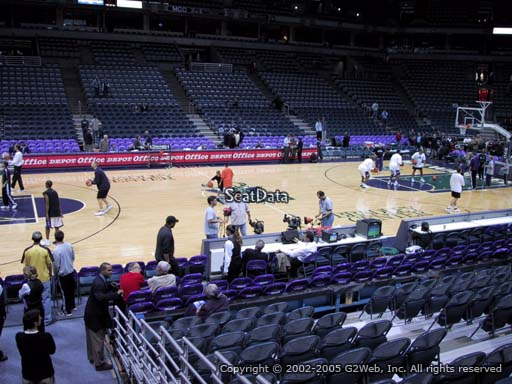 Seat view from section 201 at the Bradley Center, home of the Milwaukee Bucks