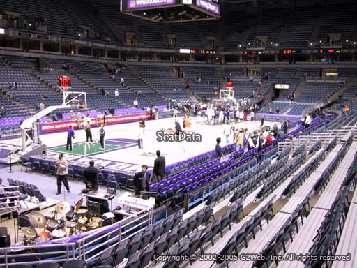 Seat view from section 204 at the Bradley Center, home of the Milwaukee Bucks