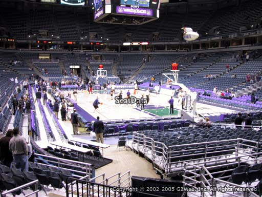 Seat view from section 209 at the Bradley Center, home of the Milwaukee Bucks