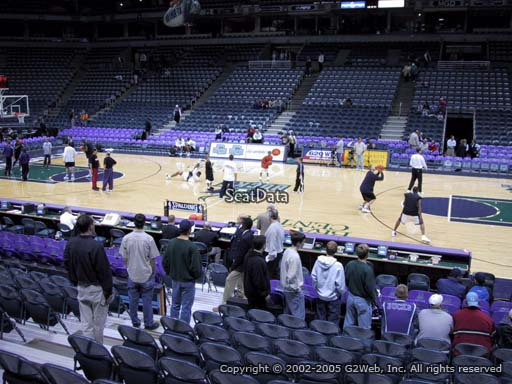 Seat view from section 213 at the Bradley Center, home of the Milwaukee Bucks