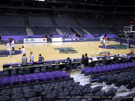 Seat view from section 215 at the Bradley Center, home of the Milwaukee Bucks