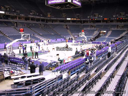 Seat view from section 218 at the Bradley Center, home of the Milwaukee Bucks