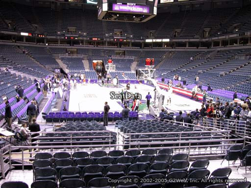Seat view from section 222 at the Bradley Center, home of the Milwaukee Bucks