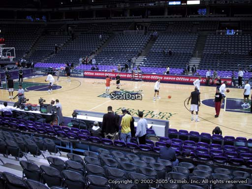 Seat view from section 227 at the Bradley Center, home of the Milwaukee Bucks