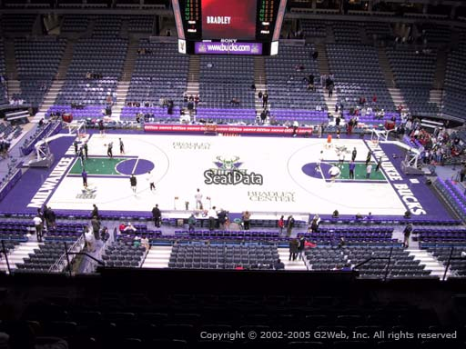 Seat view from section 400 at the Bradley Center, home of the Milwaukee Bucks