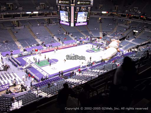 Seat view from section 404 at the Bradley Center, home of the Milwaukee Bucks