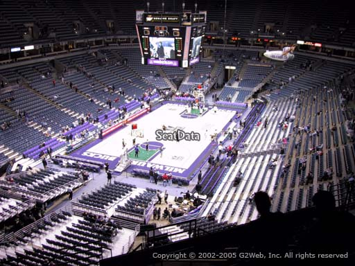 Seat view from section 408 at the Bradley Center, home of the Milwaukee Bucks