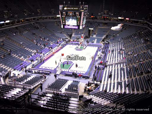 Seat view from section 409 at the Bradley Center, home of the Milwaukee Bucks