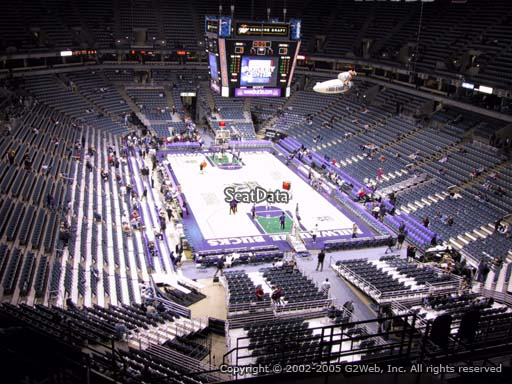 Seat view from section 413 at the Bradley Center, home of the Milwaukee Bucks