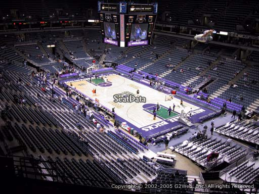 Seat view from section 416 at the Bradley Center, home of the Milwaukee Bucks