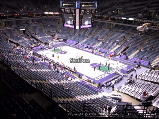 Seat view from section 417 at the Bradley Center, home of the Milwaukee Bucks
