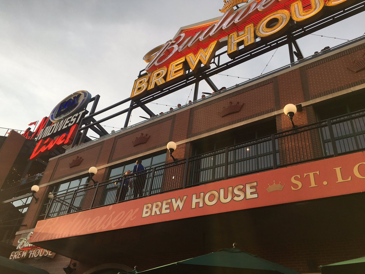 Photo of the Budweiser Brewhouse at Busch Stadium in St. Louis.