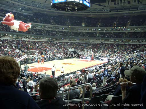 Seat view from section 104 at the United Center, home of the Chicago Bulls