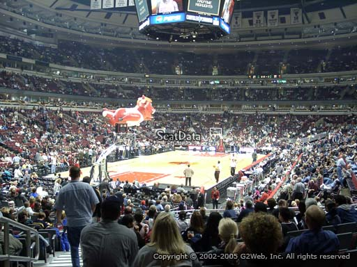 Seat view from section 105 at the United Center, home of the Chicago Bulls