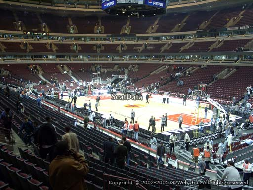 Seat view from section 108 at the United Center, home of the Chicago Bulls