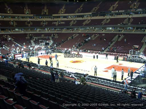 Seat view from section 109 at the United Center, home of the Chicago Bulls