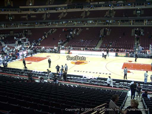 Seat view from section 110 at the United Center, home of the Chicago Bulls