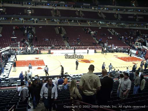 Seat view from section 113 at the United Center, home of the Chicago Bulls
