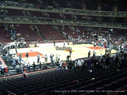 Seat view from section 114 at the United Center, home of the Chicago Bulls