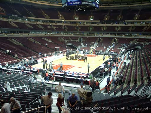 Seat view from section 115 at the United Center, home of the Chicago Bulls