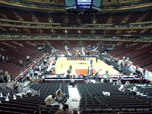Seat view from section 118 at the United Center, home of the Chicago Bulls