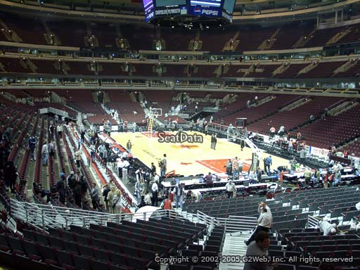 Seat view from section 119 at the United Center, home of the Chicago Bulls