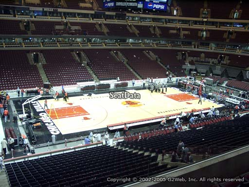 Seat view from section 203 at the United Center, home of the Chicago Bulls