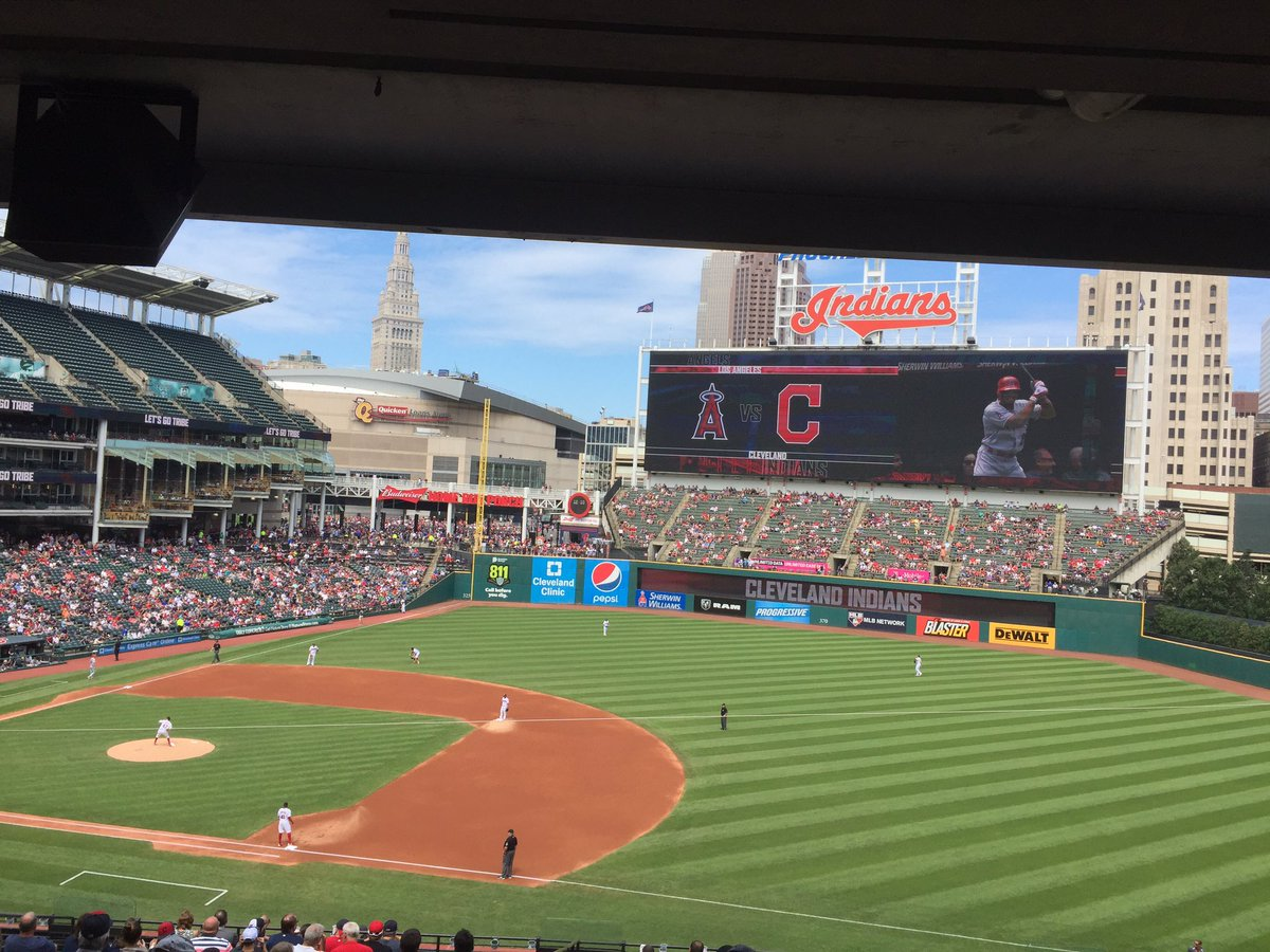 View from the Club Lounge at Progressive Field during a Cleveland Indians game.