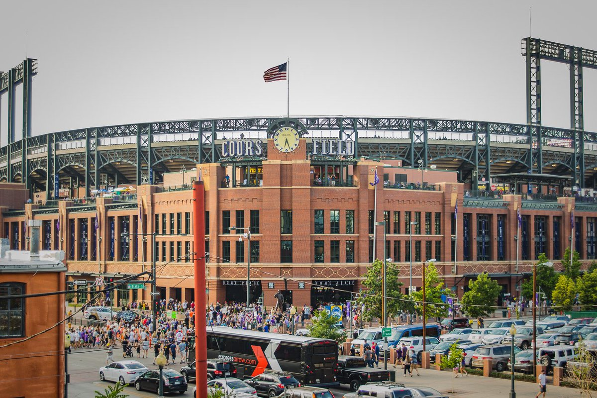 Photo of exterior of Coors Field. Home of the Colorado Rockies.