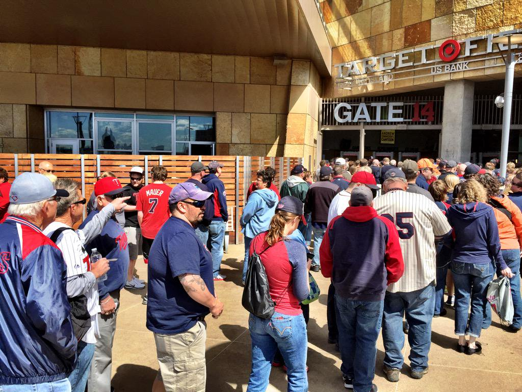 Photo of Gate 14 at Target Field before a Minnesota Twins home game.