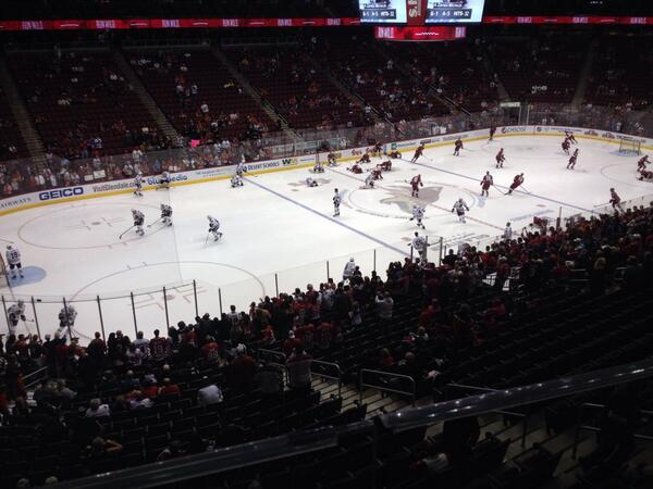 Photo of the ice at Gila River Arena. Home of the Arizona Coyotes.