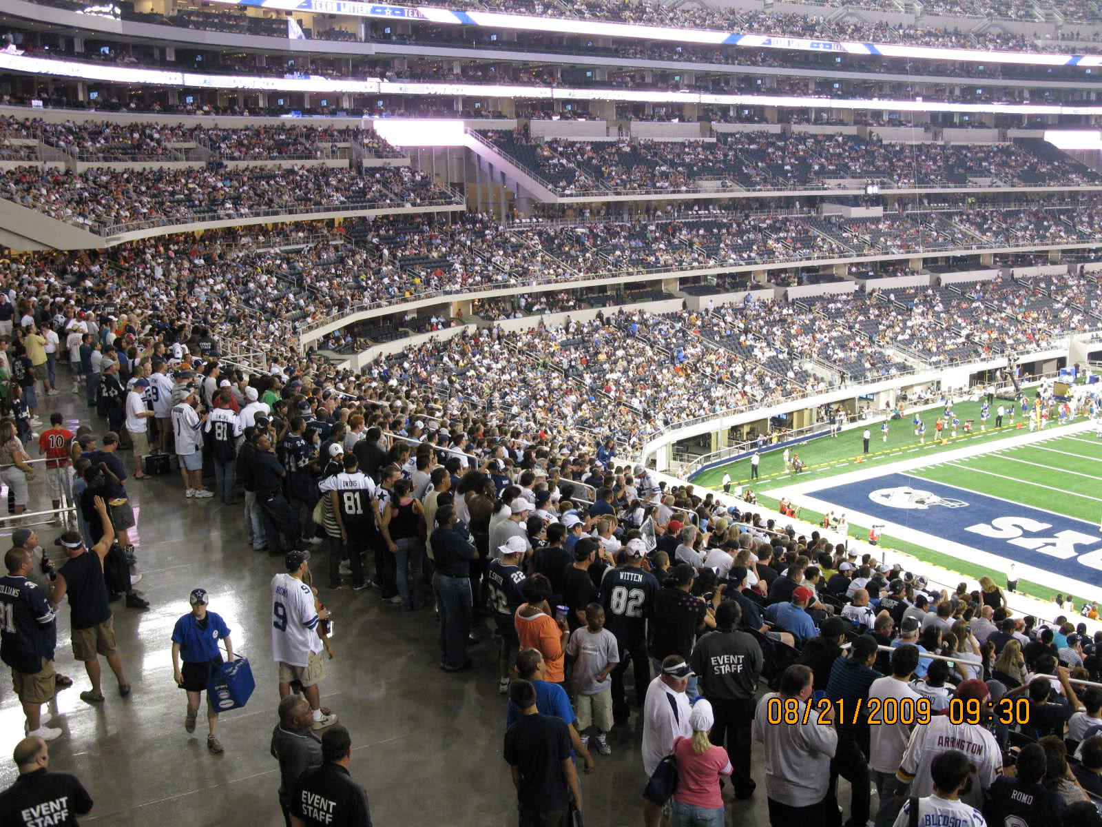View from the Party Pass Area at AT&T Stadium, home of the Dallas Cowboys